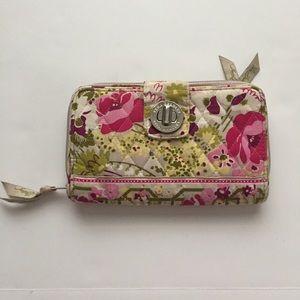 Vera Bradley Turn Lock Zipper Wallet Floral Multi